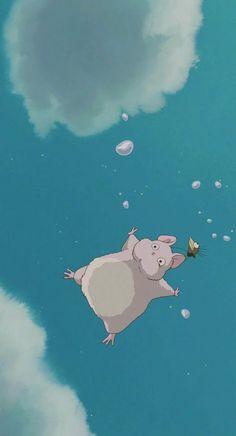 Studio Ghibli's Spirited Away wallpaper Anime Scenery Wallpaper, Cute Anime Wallpaper, Cute Cartoon Wallpapers, Cute Wallpaper Backgrounds, Animes Wallpapers, Movie Wallpapers, Art Studio Ghibli, Studio Ghibli Movies, Totoro