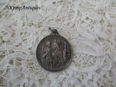 Antique religious pendant by Nkempantiques on Etsy