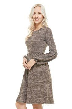 Brice Bell Sleeve Dress {Mocha}
