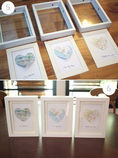 cut out shape of individual states and frame together on one wall