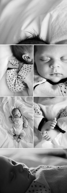 Adorable newborn shots. I love the top picture of just the hair. So cute. Newborn photography | lifestyle newborn photos | baby closeups