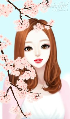 80 best korean girls art images in 2017 Cute Girl Illustration, Korean Illustration, Cute Kawaii Girl, Cute Cartoon Girl, Girly Images, Girly Pictures, Lovely Girl Image, Art Watercolor, Cute Girl Drawing