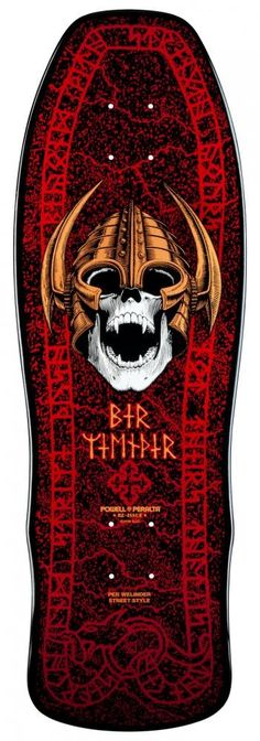 "Powell Peralta Skateboard Deck Welinder Nordic Skull Black/Red 9.625"" #gosk8 #skateboards"