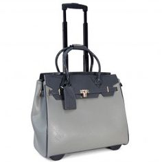 Cabrelli 15 6 O Hare Rolling Laptop Bag Grey