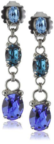 "Sorrelli ""Electric Blue"" Classic Dangle Linear Silver-Tone Earrings Sorrelli. $37.50. The Sorrelli vision, to create beautiful jewelry and bring enjoyment to those who wear it, continues today. To keep your jewelry looking its best, clean it periodically with a mild soap and water. Made in China. A polishing cloth will keep the metal from oxidizing over time.  Store in a dry place. Sorrelli jewelry is hand crafted from genuine semi-precious stones and high quali..."