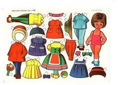 Las Mariquitas… muñecas de papel que acompañaron los juegos de vuestras abuelas y madres.