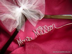 Personalized Bride Hanger Hand Scripted in YOUR by HandmadeAffair, $37.00