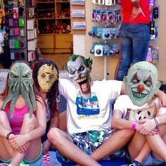 Play With Halloween Masks And Scare Your Friends! - #happy halloweeeenn