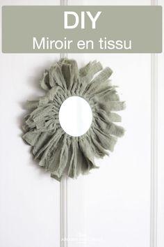 Miroir rond en tissu, une création DIY bohème Creation Deco, Blog Deco, Craft, Creations, Mirror, Home Decor, Bohemian Wall Decor, Diy Room Decor, Decoration Home
