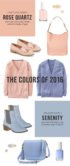Here are visually attractive various examples of Rose Quartz and Serenity to show how these colours are the latest trend of Spring 2016. From The Steele Maiden Website.