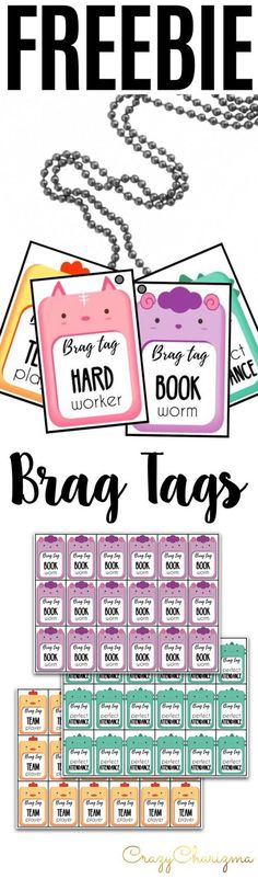 Have fun using FREEBIE: Brag Tags - Animals rewards with your kids! Brag tags are a great way to promote and reward positive behavior at school! CrazyCharizma