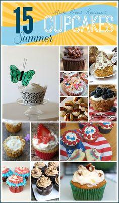 15 Summer Cupcakes #Recipes YUMMY!
