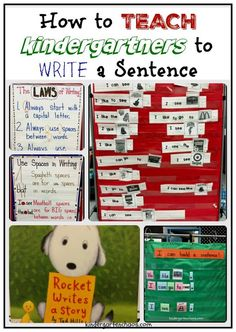 Teaching Kindergartners How to Write a Sentence is part of Sentences kindergarten - Several lesson ideas and anchor charts to use when Teaching Kindergartners How to Write a Sentence Uses the gradual release model to full implication Kindergarten Anchor Charts, Kindergarten Language Arts, Kindergarten Reading, Kindergarten Teachers, Writing Center Kindergarten, Kindergarten Activities, Work Activities, Kindergarten Writers Workshop, Kindergarten Registration