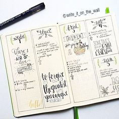 Love this bullet journal layout