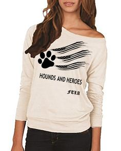 FTLA Apparel Hounds and Heroes Eco Jersey Off The Shoulder Pullover - Eco Ivory