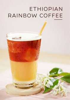 Let your senses come alive with the bright colors and sweet taste of this Ethiopian Rainbow Coffee recipe from Nespresso. Vivalto Lungo Grand Cru, jasmine, and orange juice come together to create a unique blend of herbal and citrus flavors. This easy iced coffee is the perfect way to cool down on a hot day.