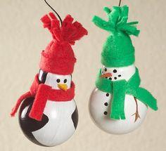 Enfeites de natal feitos com lâmpadas - Pra Gente Miúda