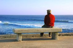 Healthy Beginnings Living Between Two Worlds: Dreams and the Afterlife Sitting Bench, Man Sitting, Between Two Worlds, Sedentary Lifestyle, True Romance, All Alone, Guy Drawing, Second World, Old Men