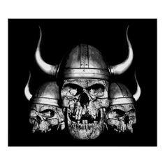 Crânes de Viking Posters