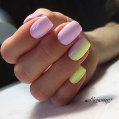 Spring nails, summer nails, creative nail designs, creative nails, nail a. Yellow Nails Design, Yellow Nail Art, Purple Nail Designs, Best Nail Art Designs, Colorful Nail Designs, Stylish Nails, Trendy Nails, Cute Nails, Nail Color Combos