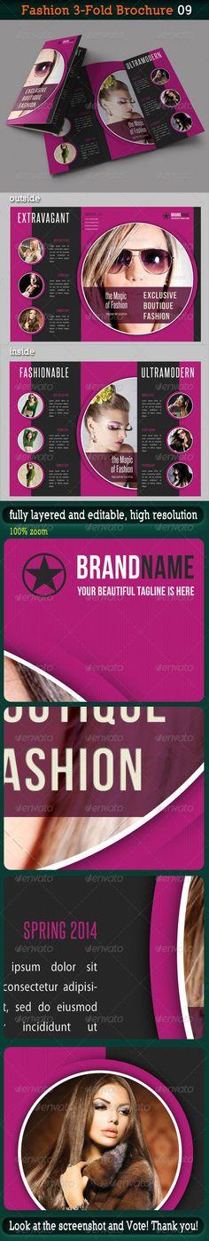 Carbon Paper Font logo - fashion design brochure template