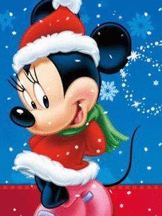 A Disney Christmas - Minnie mouse Walt Disney, Disney Mickey Mouse, Mickey Mouse Y Amigos, Retro Disney, Minnie Mouse Christmas, Mickey Mouse And Friends, Disney Fun, Disney Magic, Merry Christmas