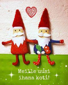 Fabric christmas gnomes by Taikalandia