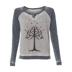 New Style Alert Lord of the Rings Inspired Fandom Super Soft Burnout... ($38) ❤ liked on Polyvore featuring tops, blue, pullovers, sweaters, women's clothing, pullover tops, blue top, burnout tops, sweater pullover and burn out tops