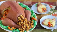 Surprise your family this Thanksgiving by serving a roasted turkey for dessert. Then wow them even further, when you cut the first slice and candy corn comes falling out. This pinata style cake will feed a big crowd. Its made from three Betty Crocker™ SuperMoist™ yellow cake mixes and is not only stuffed with candy, but also filled with a sweet version of Thanksgiving day stuffing.