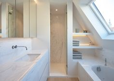 Small Bathroom Storage 222928250293780705 - Remarkable Attic Rooms Hangout Ideas Surprising Useful Tips: Attic Office Design attic entrance garage. Source by House, Home, Attic Conversion, Attic Rooms, Modern Bathroom, Loft Bathroom, Renovations, Luxury Bathroom, Bathroom Design