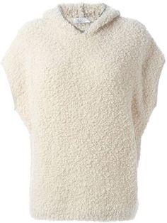 short sleeved knitted hoodie