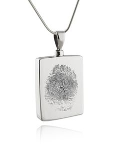 Custom Fingerprint Memorial Urn Necklace for by FJ4LifeCreations