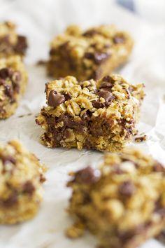Whole Wheat Oatmeal Chocolate Chip Cookie Bars   girlversusdough.com @girlversusdough