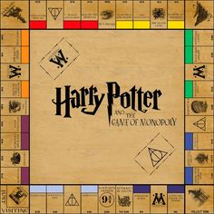 The Harry Potter Monopoly Board  free printable met kaarten en geld enz