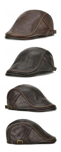987403cc4a6 Mens Casual Beret Hat  Windproof Warm Forward Cap  outdoors  outfits  men  Mens