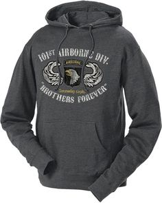 8b13ac852465 Men s and Women s Army Hoodie - 101st AIrborne of US Army Division Brothers  Forever Retro Hooded Sweatshirt