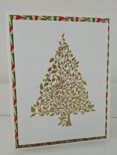 Embossed Christmas card. Simple and beautiful.