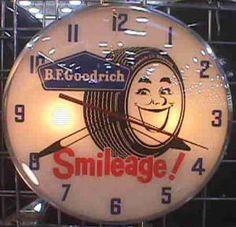 Goodrich Tires Smileage Pam Type Clock