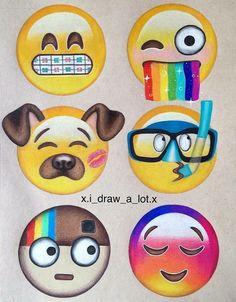 Design your own emojis! Creative and funny emojis! Emoji Drawings, Disney Drawings, Amazing Drawings, Cute Drawings, Amazing Artwork, Social Media Art, Doodles, Cute Emoji, Emoji Wallpaper