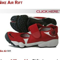 ISO Nike Air Rift In Search of nike air rift. Affordable and in any color, preferably red or black. Please tag me if you come across them. Thank you!!! Between size 5 to size 6 Nike Shoes Sneakers
