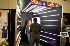Vogue Booth From Coco Events: Inspired by the fashion magazine's futuristic light tunnel-style photo booth at the Met Gala, which was held in May in New York, Coco Events allows guests to strike a pose and rock out to music during their photo session. The booth is approximately 8 feet deep and 6 feet wide, and rents for as many as five hours for $2,500. Guests receive a print and video via email.