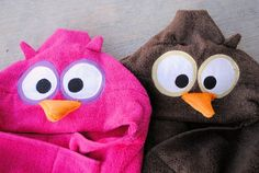 How to Make an Owl Hooded Towel