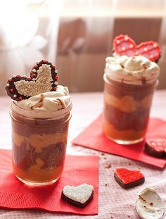 Chocolate and Salted Caramel Pudding Parfaits :Cheese and Chocolate