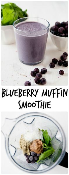 Blueberry Muffin Green Smoothie from LauraFuentes.com
