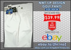 NWT IJP Design Golf Pants White Womens size 8/9 or 30x34 Lycra Cool Max Sports  BUY IT NOW! : http://ebay.to/2fn1noZ  #ebay #fashion #shopping #womens #kids #nwt #save #deals #bargains #vintage #gifts #giftideas #unique #rare #pants #coolmax #cool #sportswear #golf #ironstretch #pants #dresspants #stylish #latest ##giftsforher  #forsale