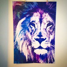 Lion head giclee fine art print birthday gift by ChoBeArtandDesign, $15.00