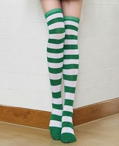 Sexy Leprechaun St. Patricks Day Socks Over the Knee Thigh-HIghs NEW UNISEX #LegAvenue #KneeHigh