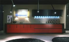 Ultra-Modern Kitchen Design in Black and Red from Arrital Cucine