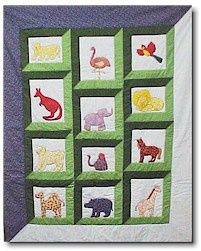 a day at the zoo quilt