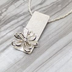 Sterling Silver Flower Pendant Made in Canada by SparksByDesign